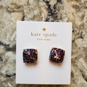 Kate Spade Glitter Stud Earrings